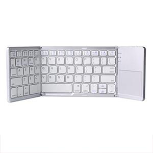 Dokunmatik Tablet cep telefonu, bilgisayar, kablosuz Bluetooth, mini klavye katlama ile yüksek kalitede B033 Üç sistem evrensel üç kat
