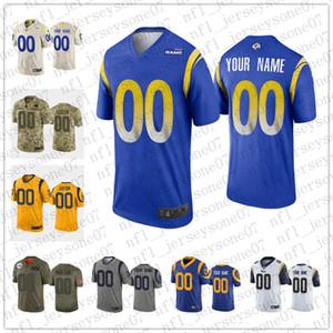2020 Custom Men's women youth Los AngelesRams100th blue camo black white green grey Vapor Limited rush Football Jersey