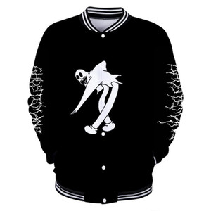 Ghostemane World Tour Rock Music Logo 3D print Baseball uniform Men / Women Harajuku Baseball Stakes clothes