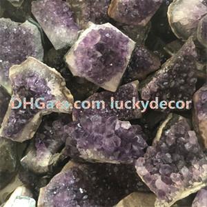 1000g Top Uruguay Améthyste Quartz Geode Cave Spécimen Minéral De Taille Aléatoire Irrégulière Brut Brut Chakra Durci Guérison Pourpre Cristal Gemstone Cluster