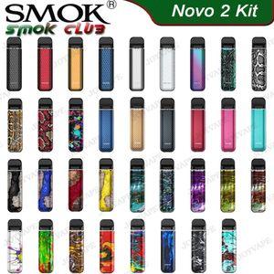 SMOK NOVO 2 Kit Draw-Pod attivato sistema all-in-one Starter Kit Buil-in 800mAh con 2 ml Mesh 1.0ohm DC 1.4ohm MTL Bacelli cartucce