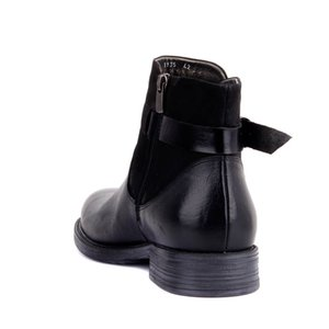 Sail-Lakers Black Nubuck Leather Zipper Male Boots