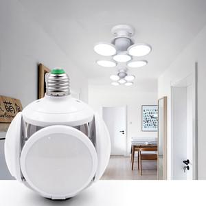 Edison2011 40W LED Складной футбол шарика E27 5 листьев регулируемый супер яркий светодиодный светильник UFO AC 85-265V Светодиодные лампы