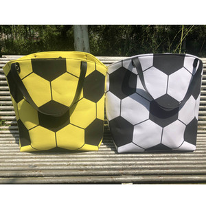 50pcs 23inch * 17inch * 7.8 inch Blanks Canvas Sport Bag Soccer Tote White Color women fashion game tote bag