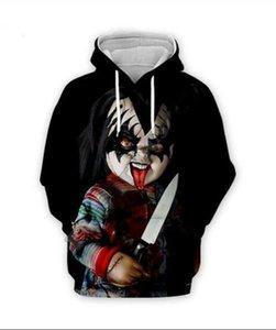 Hoodies Designer homens para as Mulheres Homens Casais camisola amantes 3D jogo de criança Chucky Hoodies Coats moletom bordado Tees Roupa RR035