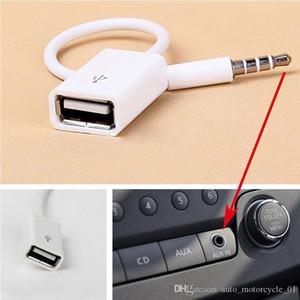 Yeni 3.5mm Erkek AUX Ses Tak Jak USB Kadın Dönüştürücü Kordon Teleferik MP3 Araç Aksesuarları DHL Ücretsiz Kargo