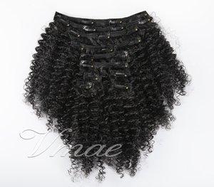 Бразильский перуанский индийской Малайзии VMAE 3C Natural Color 140G 12 до 26 дюймов девственницы Remy человеческих волос клип в