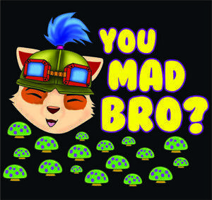 Teemo Вы Mad Bro Пользовательского T Shirt Design By TEEIMP COM