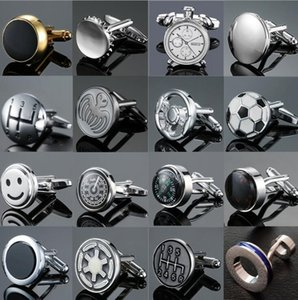 New Delicate Round gear chronometer Cuff Links Fashion men's cufflinks shirt Wedding party cuff links have box