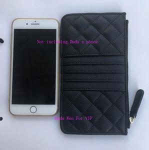19.5X11.5Cm diamante treliça de cartão clássico suporte do saco de armazenamento de PU saco telefone couro moeda com C bolsa de saco de pó VIP hardware impresso plásticos