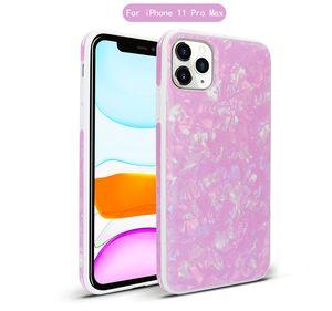 Für LG K50 Q60 Q6 Prime Marble Texture-Telefon-Kasten Conch Shell Texture Stoß- Schutzhülle
