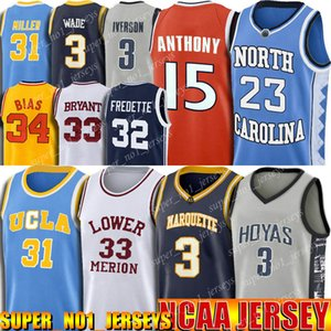 North Carolina Tar Heel 23 Michael Jersey All Iverson 3 Trikots Dwyane Wade 3 Jersey 33 Johnson Jerseys Reggie Miller 31 NCAA Universität