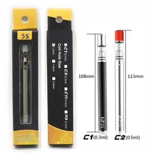 Original Mjtech 5S C1 C2 descartável Vape Pen vazio e cigarro Kits 0,3 ml 0,5 ml Os cartuchos 320mAh baterias descartáveis vaporizador