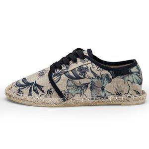 Hommes Espadrilles Casual Hommes d'été en toile de chanvre corde Chaussures respirante Chaussures pour hommes Chaussures Hombre 3 # 22 / 20D50