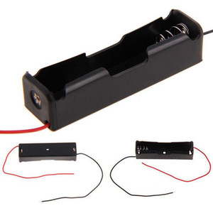 الالكترونيات الاستهلاكية عالية الجودة الإلكترونية DIY البلاستيك الأسود 18650 حامل البطارية 3.7V كليب الحال مع سلك الرصاص بطارية تخزين