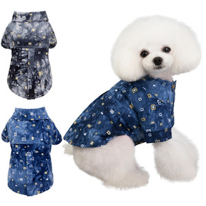 Hundehemden Baumwolle Sommer Strand Weste Kurzarm Sommer Strand Weste Kurzarm Haustier Kleidung Hund T-shirt Druck Tops
