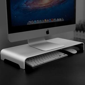 Алюминиевый монитор Стенд Компьютер Riser Устройство Организатор универсальный Металлический Рабочий стол Стенд До 27 Дюймов Экраны для MacBook / IMAC Pro / Держатель