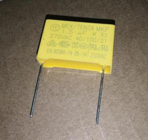 10pcs X2 Polyproplene safety capacitor 1.5uF 275VAC K 1.5uf 155 275V AC