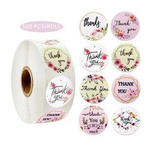 Grazie floreale È Adesivi Seal etichetta adesiva da sposa Accessori Tag bottiglia di vetro Busta business Gift Box Invitation Card Decor