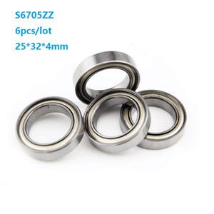 6pcs lot S6705ZZ S6705 ZZ 25*32*4mm Stainless Steel Thin wall Deep Groove Ball Bearing 25x32x4mm