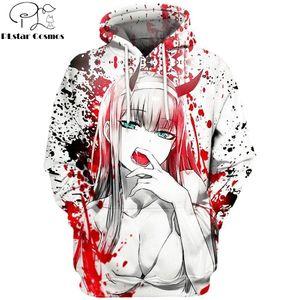 2019 New 3D Fashion Hoodies Anime DARLING in the FRANXX Full Printed Pullover   Hoodie Sweatshirt Unisex Casual Streetwear Y200704