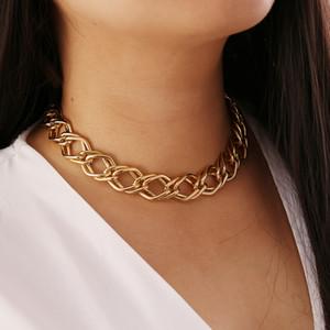 S1191 Hot Fashion Jewelry Geometry Metel Chain Choker Short Necklace Bracelet