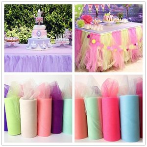 Tulle Rolo 25 jardas 15cm Birthday Party Decoration Baby Shower TUTU Baby Show casamento Organza DIY saia tutu Crafts Supplies
