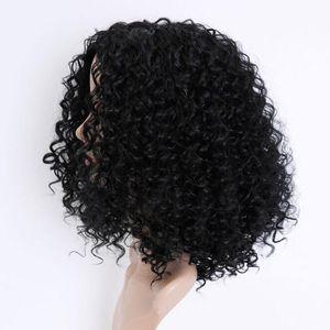 stile sintetico poco costoso parrucche Afro crespo parrucca riccia brevi parrucche Cosplay Per AFICA Black Woman Best seller caldo
