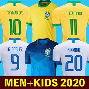 brazil 2020 camisa de futebol copa américa camiseta de fútbol COUTINHO FIRMINO JESUS camiseta de fútbol PAQUETA MARCELO 2021 camiseta de fútbol