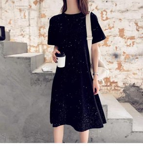 Summer new women's knitted lapel dress fashion casual cotton material comfortable knitted sweater breathable classic dress 10