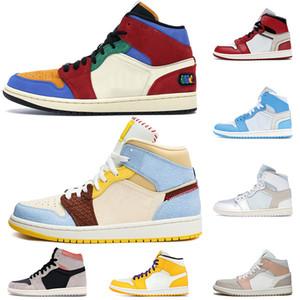 nike air jordan 1 2020 zapatos de calidad superior Jumpman para mujer para hombre del baloncesto 1 1s Shattered Tablero SE Sin Miedo azul La Gran AUDAZ zapatillas de deporte