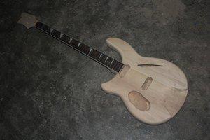 Nuovo 1 pz 1 set mano sinistra incompiuta chitarra collo e corpo kit chitarra elettrica fai da te