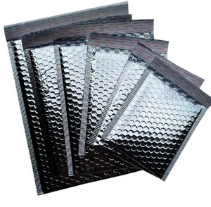 8 formati 11x13 cm / 23x30 cm 40 pz Argento Imbottito Busta per spedizioni Metallico Bubble Mailer Foglio di alluminio Confezione regalo Confezione Involucro