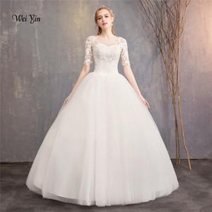 weiyin новое прибытие кружева аппликация бальные платья свадебные платья 2018 плюс размер свадебное платье Принцесса свадебное платье настоящее фото WY984