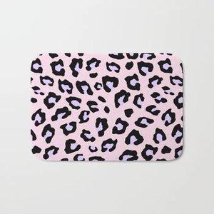 Nordic Лучшего анти-скольжение розового Коврик вход Ковер фланель Смешной Печать леопардовый - Lavender Blush Doormat И Ковер лестничный