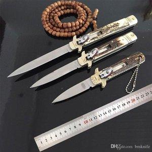 HOT italienische Mafia Automatische Messer Klappmesser Antler Griff taktisches Messer Camping Tactical Swinguard 9-Zoll-Taschenmesser