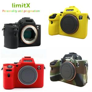 소니 알파 A7 II A7R II A7S II A7 III A7R III 카메라에 대한 limitX 실리콘 갑옷 스킨 케이스 보디 커버 수호자