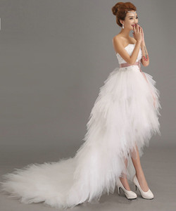 Charming bride sexy short wedding dress Formal occasion lace-up back bridal dress XHS02
