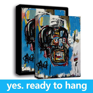 Large Modern Art HD Print Jean-Michel Basquiat Untitled,1982 Oil Painting on Canvas Wall Decor - Ready to hang -Frame