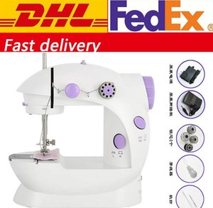 DHL FREE Shipping Multifunction Electric Automatic Tread Rewind Sewing MachineMini Handheld Pedal Sewing Machines FY7043
