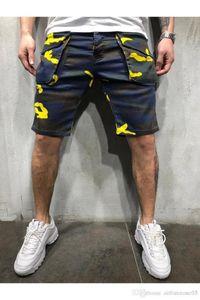 Shorts Estate Designer Hombres Pantalones Pocket Shorts Sport Mens Camouflage Cargo