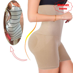 Culo Shaper Sexy Butt Lifter Mujeres adelgazantes Fajas de control de la barriga Cintura alta Trainer Body Shaper Boyshort Tight Power Shorts