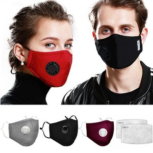 Fashion Cotton Masks with 2 Filters Anti Dust Pollution Breathable Designer Party Printed Face Mask Washable Reusable Dustproof Mouth Muffle