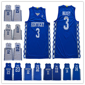 2020 NCAA Kentucky Wildcats Escuela de Baloncesto Tyrese Maxey Tyler Herro John Wall Anthony Davis Karl-Anthony Towns DeMarcus Cousins ​​jerseys