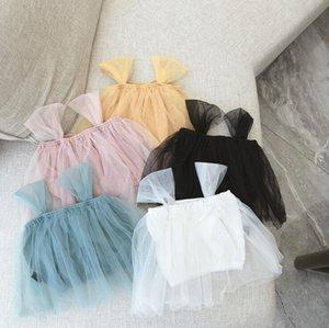 2020 뜨거운 판매 아기 소녀 왈레 조끼 여름 어린이 여자 조끼 1-7Years
