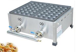 Novo gás takoyaki grill equipamentos de gás comercial takoyaki duas placas que faz a máquina de Estilo Japonês Takoyaki máquina fabricante