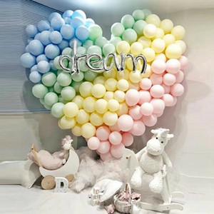 Горячий 200PCS / мешок 5 дюймов Macarons Цвет Пастель Конфеты Шары латексные Круглый Гелий Baloons для Birthday Party