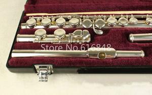 Júpiter JFL-5011E C Tune 16 teclas agujeros cerrado flauta de plata plateado Flauta de la nueva marca de instrumentos musicales con el caso y la cabeza curva Pequeño