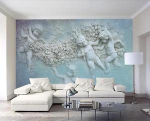 personalizzare 2020 moderna sala dei bambini della carta da parati Soggiorno Camera da letto wallpaper per pareti 3 d angelo carta da parati fotografica 3d