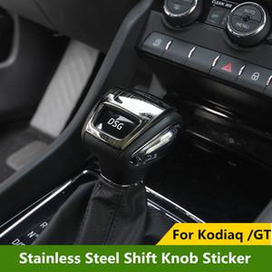 Inoxidável engrenagem Car Aço deslocamento da tampa Knob Etiqueta Moulding guarnição para Skoda Kodiaq GT 2017 2018 2019 Styling